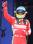11.05.2013 Barcelona, Spain. Formula 1 Qualifying Session. Picture show Fernando Alonso after finish Q3 at circuit de Catalunya