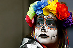 Cassandra Hernandez, 11, watches the costume contest during the Boo-nanza event at the Carson City Library, in Carson City, Nev., on Tuesday, Oct. 30, 2018. <br /> Photo by Cathleen Allison/Nevada Momentum