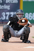 South Bend Silver Hawks catcher Errol Hollinger (29) during a game vs. the West Michigan Whitecaps at Fifth Third Field in Comstock Park, Michigan August 16, 2010.   West Michigan defeated South Bend 3-2.  Photo By Mike Janes/Four Seam Images