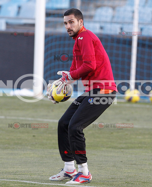 Getafe's Miguel Angel Moya during training session.December 05,2012.(ALTERPHOTOS/Acero) /NortePhoto
