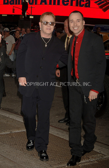 "WWW.ACEPIXS.COM . . . . .  ....NEW YORK, APRIL 25, 2006....David Furnish and Sir Elton John at the Broadway opening of ""Lestat"".....Please byline: AJ Sokalner - ACEPIXS.COM.... *** ***..Ace Pictures, Inc:  ..(212) 243-8787 or (646) 769 0430..e-mail: picturedesk@acepixs.com..web: http://www.acepixs.com"