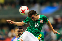 Mexico City, Mexico - Sunday June 11, 2017: Héctor Herrera during a 2018 FIFA World Cup Qualifying Final Round match with both men's national teams of the United States (USA) and Mexico (MEX) playing to a 1-1 draw at Azteca Stadium.