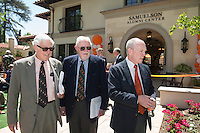 From left, Occidental's 14th president Robert Skotheim, 10th president Richard Gilman and 12th president Ted Mitchell.<br />