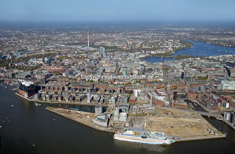 Hafencity Baustelle Strandkai Überseequartier: EUROPA, DEUTSCHLAND, HAMBURG, (EUROPE, GERMANY), 13.10.2018 Hafencity Baustelle Strandkai Überseequartier