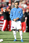 3 April 2004: Landon Donovan during player introductions before the game. DC United defeated the San Jose Earthquakes 2-1 at RFK Stadium in Washington, DC on opening day of the regular season in a Major League Soccer game..