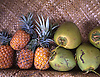 Fresh pineapples and coconuts on Maui, Hawaii. Photo by Kevin J. Miyazaki/Redux