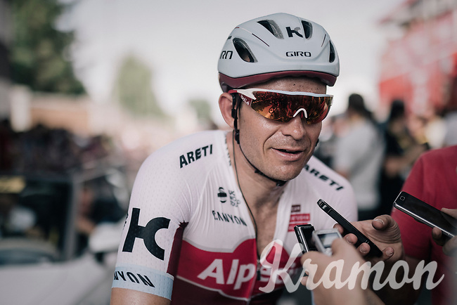 Alexander Kristoff  (NOR/Katusha-Alpecin) interviewed after the stage<br /> <br /> 104th Tour de France 2017<br /> Stage 6 - Vesoul &rsaquo; Troyes (216km)