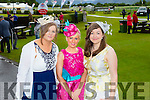 l-r Ciara Curtin, Killarney, Stacey O'Leary, Killarney and Christina Murhill, Killarney looking glamorous for Ladies Day at the Killarney Races. on Thursday