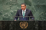 LOS general debate – 27 September<br /> <br /> PM<br /> <br /> His Excellency Andrew Holness, Prime Minister, Jamaica