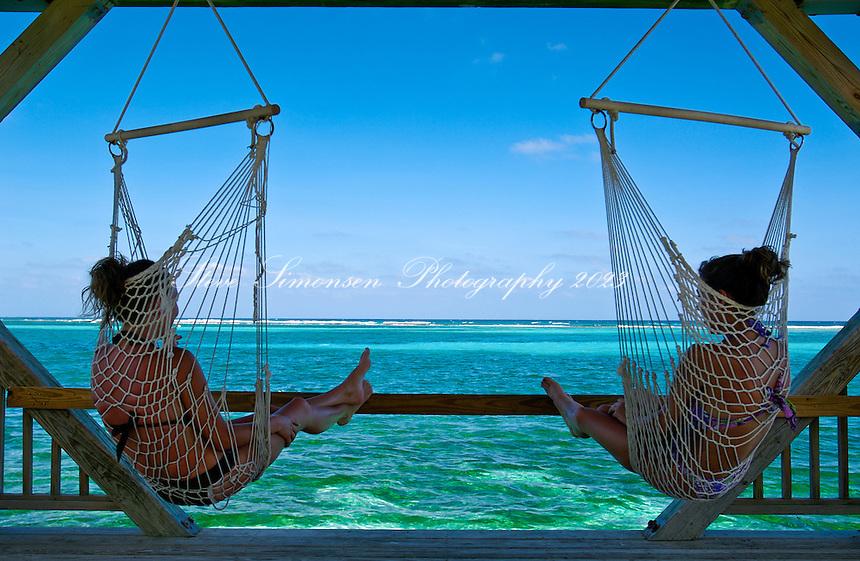 Girls in hammocks<br /> Divi Resort<br /> St Croix, U.S. Virgin Islands