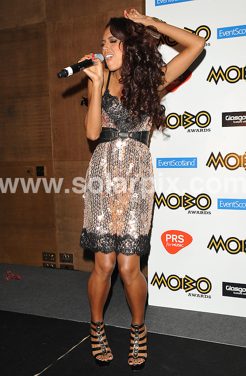 **ALL ROUND PICTURES FROM SOLARPIX.COM**.**WORLDWIDE SYNDICATION RIGHTS**.Celebrities attend the MOBO Awards nominations party, where UK Eurovision entrant Jade Ewens performed her new single. Held in The Crystal Rooms of The Mayfair Hotel, London, UK. 26 August 2009...This pic: Jade Ewen..JOB REF: 9812 SSD     DATE: 26_08_2009.**MUST CREDIT SOLARPIX.COM OR DOUBLE FEE WILL BE CHARGED**.**MUST NOTIFY SOLARPIX OF ONLINE USAGE**.**CALL US ON: +34 952 811 768 or LOW RATE FROM UK 0844 617 7637**