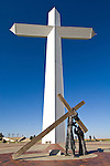 The Cross of Our Lord, Jesus Christ monument created by Steve Thomas along Route 66 in the Texas Panhandle