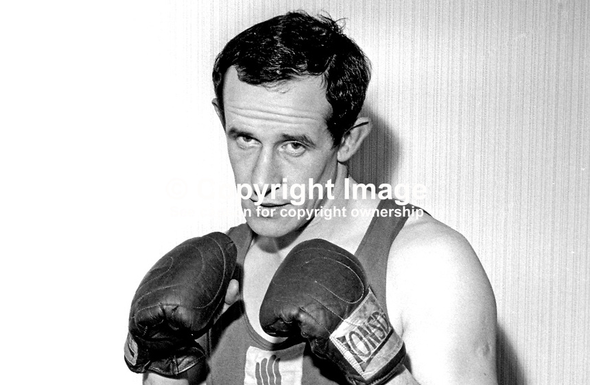 Alex McGavock, amateur boxer, N Ireland, UK, December 1966, 196612000094<br />