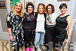 Kathleen White, Lucy Fitzell, Eilish McMahon, Monique Fitzell (all Tralee) and Caroline Clifford (Ardfert) enjoying the 80's Disco fundraiser in aid of Kerry/Cork Health Link Bus in the Rose Hotel on Friday night.