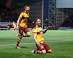 Peter Hartley celebrates after scoring goal no 2