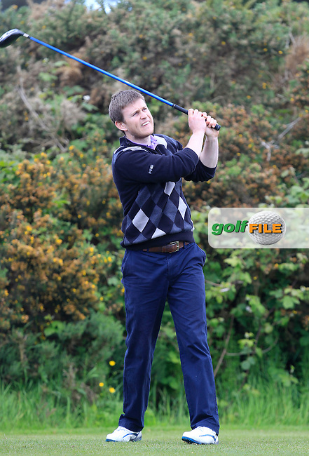 Gary Rainsford (Galway Bay) on the 12th tee during the Final of the Connacht Barton Shield at Galway Golf Club on Sunday 7th June 2015.<br /> Picture:  Thos Caffrey / www.golffile.ie