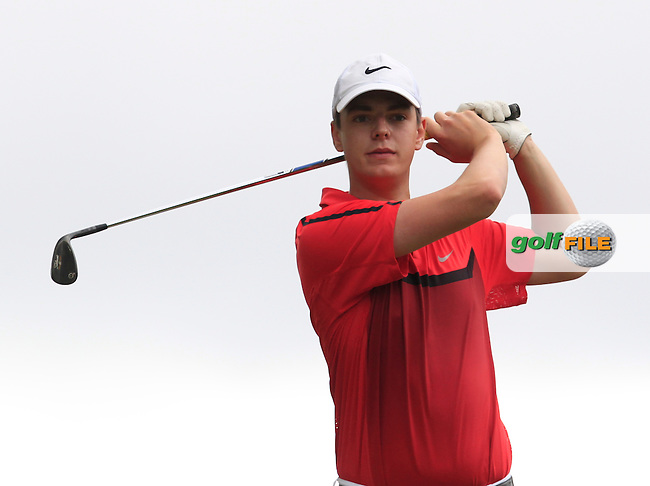 Ciaran Henry (Strand Hill) on the 7th during Round 2 of the Irish Boys Amateur Open Championship at Tuam Golf Club on Wednesday 24th June 2015.<br /> Picture:  Thos Caffrey / www.golffile.ie