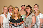 Whats the Future: Annette Keating, Medium Psychic from Killarney (3rd from left) held a supper evening at the Abbey Gate Hotel, Tralee, last Friday night. Attending were, l-r: Georgina OSullivan, Tralee, Helen OConnor, Killarney, Sharon OLeary and Lisa Corrigan, Tralee, and Karen Moore, Killarney..