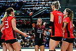 25.08.2018, …VB Arena, Bremen<br />Volleyball, LŠ&auml;nderspiel / Laenderspiel, Deutschland vs. Niederlande<br /><br />Jubel Denise Hanke (#3 GER), Jennifer Geerties (#6 GER), Lenka DŸrr / Duerr (#1 GER), Louisa Lippmann (#11 GER), Melanie Schšlzel / Schoelzel (#14 GER)<br /><br />  Foto &copy; nordphoto / Kurth