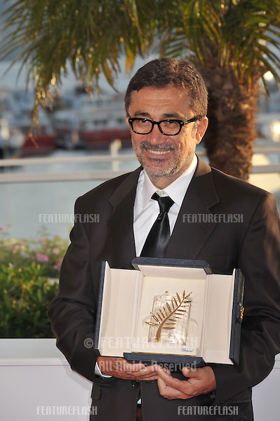 Nuri Bilge Ceylan, winner of Palme d'Or for &quot;Winter Sleep&quot;, at the awards photocall at the 67th Festival de Cannes.<br /> May 24, 2014  Cannes, France<br /> Picture: Paul Smith / Featureflash