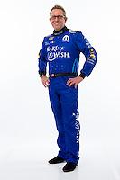 Jan 15, 2015; Jupiter, FL, USA; NHRA funny car driver Tommy Johnson Jr poses for a portrait during preseason testing at Palm Beach International Raceway. Mandatory Credit: Mark J. Rebilas-USA TODAY Sports