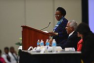 Baltimore, MD - July 24, 2017: U.S. Rep. Sheila Jackson Lee speaks at the Federal Policy Legislative Workshop during the 108th Convention of the NAACP in Baltimore, MD, July 24, 2017  (Photo by Don Baxter/Media Images International)
