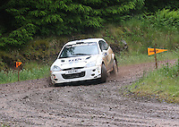 Euan Thorburn / Paul Beaton at Junction 12 on Special Stage 2 Windy Hill of the 2012 RSAC Scottish Rally supported by Dumfries and Galloway Council, Round 5 of the RAC MSA Scottish Rally Championship which was based in Dumfries on 30.6.12.