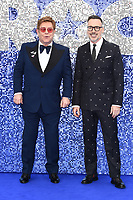 "LONDON, UK. May 20, 2019: Elton John and David Furnish arriving for the ""Rocketman"" UK premiere in Leicester Square, London.<br /> Picture: Steve Vas/Featureflash"