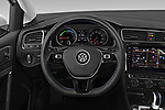 Car pictures of steering wheel view of a 2019 Volkswagen e-Golf Base 5 Door Hatchback