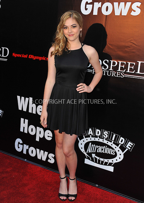 WWW.ACEPIXS.COM<br /> <br /> May 4 2015, LA<br /> <br /> McKaley Miller arriving at the Los Angeles premiere of 'Where Hope Grows' at the ArcLight Cinema on May 4, 2015 in Hollywood, California.<br /> <br /> By Line: Peter West/ACE Pictures<br /> <br /> <br /> ACE Pictures, Inc.<br /> tel: 646 769 0430<br /> Email: info@acepixs.com<br /> www.acepixs.com