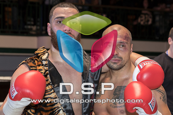 Dana Zaxo vs Georgi Valevski 4x3 - Light Heavyweight Contest During Goodwin Boxing - Strike Force. Photo by: Simon Downing.<br /> <br /> Saturday March 10th 2018 - York Hall, Bethnal Green, London, United Kingdom.