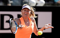 La tennista russa Maria Sharapova in azione nel corso degli Internazionali d'Italia di tennis a Roma, 15 maggio 2017.<br /> US tennis player Maria Sharapova in action during the italian Masters tennis in Rome, May 15,2017.<br /> UPDATE IMAGES PRESS/Isabella Bonotto