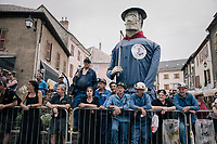 the start town of La Mure used to be a mining town, so some locals came out in miner costumes to cheer on the riders<br /> <br /> 104th Tour de France 2017<br /> Stage 17 - La Mure › Serre-Chevalier (183km)