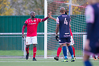 Jared Small of Harlow Town celebrates the hosts second goal during Harlow Town vs Dulwich Hamlet, Buildbase FA Trophy Football at The Harlow Arena on 11th November 2017