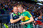 Donchadh O'Sullivan Kerry players celebrate after defeating Derry in the All-Ireland Minor Footballl Final in Croke Park on Sunday.