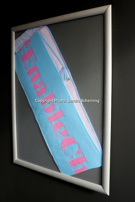 October 06, 2019, Paris (France) - Merchandise for Enable sold at Prix de l'Arc de Triomphe meeting on October 6 in ParisLongchamp. [Copyright (c) Sandra Scherning/Eclipse Sportswire)]