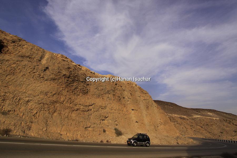 Israel, Judean Desert, Route 31, the Sodom-Arad road