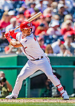 14 April 2018: Washington Nationals third baseman Matt Reynolds in action against the Colorado Rockies at Nationals Park in Washington, DC. The Nationals rallied to defeat the Rockies 6-2 in the 3rd game of their 4-game series. Mandatory Credit: Ed Wolfstein Photo *** RAW (NEF) Image File Available ***