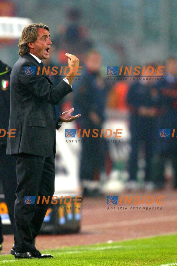 Roma 9/11/2003 <br /> Roma Lazio 2-0 <br /> Roberto Mancini (Lazio)<br /> Foto Andrea Staccioli Insidefoto