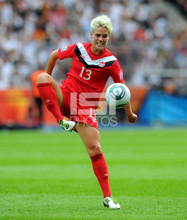 Sophie Schmidt of Canada during the FIFA Women's World Cup at the FIFA Stadium in Berlin, Germany on June 26th, 2011.