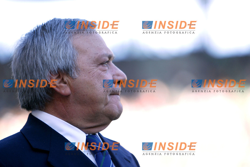 Roma 11/1/2004 <br /> Lazio Brescia 0-1 <br /> Il Presidente della Lazio Ugo Longo<br /> Photo Andrea Staccioli Insidefoto