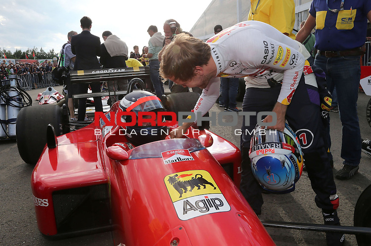 Gerhard Berger (AUT) - Sebastian Vettel (GER), Red Bull Racing<br /> for the complete Middle East, Austria &amp; Germany Media usage only!<br />  Foto &copy; nph / Mathis