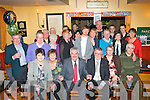 60 by two.---------.Neighbours and friends David Lynch and Ted Heaslip(seated centre)from Railway Terrace,Tralee both had a ball celebrating their 60th birthdays together in Stoker's Lodge,Tralee last Saturday night with many family and friends.