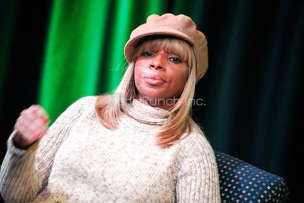Mary J Blige pictured at WDAS iHeart Performance Theater in Bala Cynwyd, Pa on December 15, 2011  © Star Shooter / MediaPunchInc