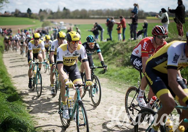 Sep Vanmarcke (BEL/LottoNL-Jumbo) in sector 21: Quérénaing to Maing (2.5km)<br /> <br /> 114th Paris-Roubaix 2016