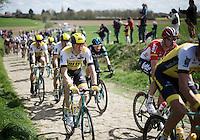 Sep Vanmarcke (BEL/LottoNL-Jumbo) in sector 21: Qu&eacute;r&eacute;naing to Maing (2.5km)<br /> <br /> 114th Paris-Roubaix 2016