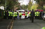 National Front (NF)supporters and Police in Bromsgrove  West Midlands.  <br />