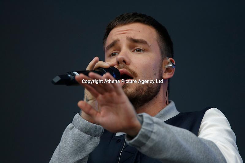 Pictured: Liam Payne. Saturday 26 May 2018<br /> Re: BBC Radio 1 Biggest Weekend at Singleton Park in Swansea, Wales, UK.