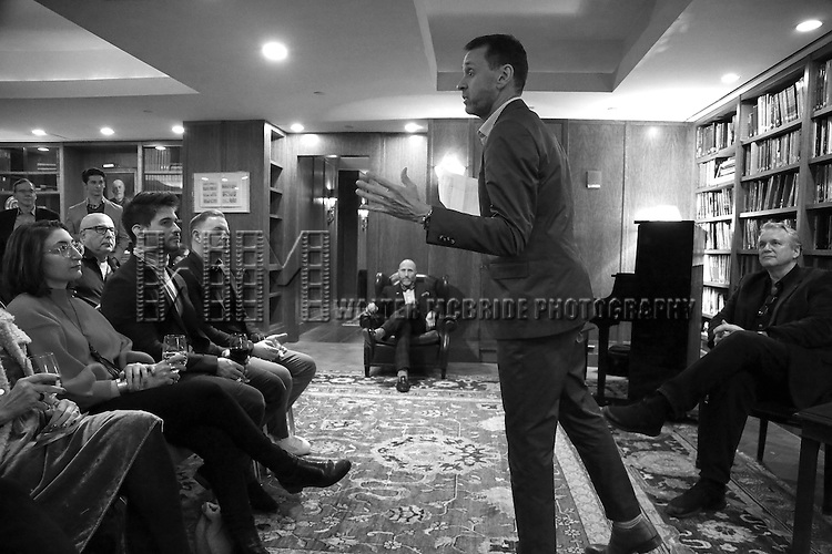 Andrew Lippa and Rick Elice attend the Dramatists Guild Fund Salon With Rick Elice at the Cornell Club on March 6, 2017 in New York City.