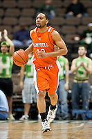 February 25, 2010:     Campbell guard Junard Hartley (12) during Atlantic Sun Conference action between the Jacksonville Dolphins and the Campbell Camels at Veterans Memorial Arena in Jacksonville, Florida.  Jacksonville defeated Campbell 65-52.